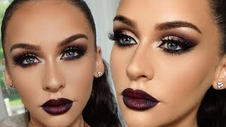 getlinkyoutube.com-SMOKED PURPLE GRUNGE GLAM | Carli Bybel