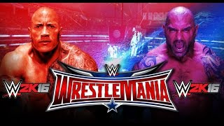 getlinkyoutube.com-The Rock Vs. Batista - WrestleMania 32 (WWE 2K16)