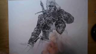 Drawing: Geralt (The Witcher 3: Wild Hunt)