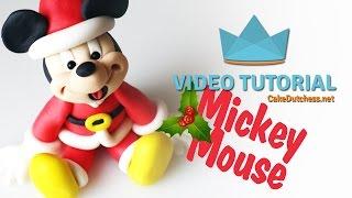 getlinkyoutube.com-How to make a Mickey Mouse Santa for Christmas - Cake Decorating Tutorial