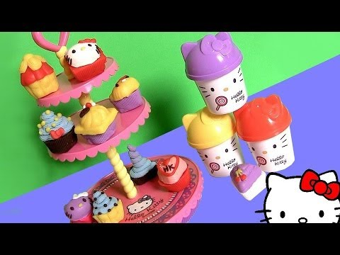 Play Doh Hello Kitty Cupcake Tower Dough Plastilina Torre de Pasteles Pastelitos ハローキティ | キャラクター