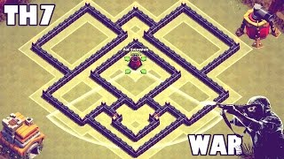 getlinkyoutube.com-Clash of Clans | Town Hall 7 (Th7) War/Trophy Base - [Air Sweeper]