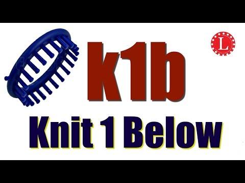 LOOM KNITTING Stitches Knit 1 Below and Purl 1 Below