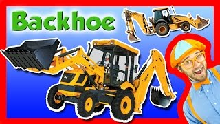 getlinkyoutube.com-Backhoe Excavator for Kids - Explore A Backhoe