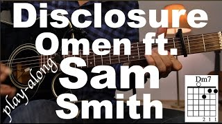 Disclosure - Omen ft. Sam Smith Guitar Tutorial / Guitar Lesson - /Guitar Cover/