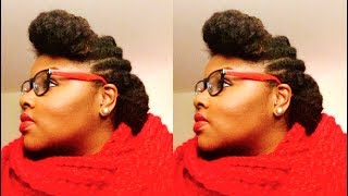 getlinkyoutube.com-Super Quick & Easy Protective Style Updo