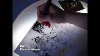 getlinkyoutube.com-Inking with G pen nib and Pilot ink