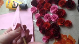 getlinkyoutube.com-Бумажные розы легко и очень быстро за 5 минут своими руками из цветной бумаги