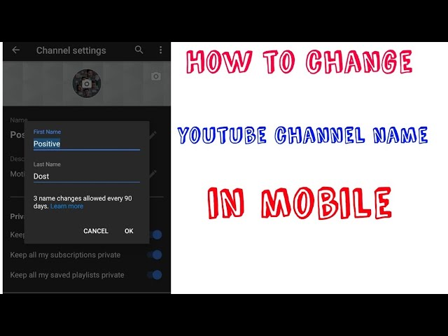 Download Thumbnail For How To Change Youtube Channel Name In Mobile