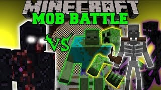 getlinkyoutube.com-MUTANT OBSIDIAN GOLEM VS MUTANT ZOMBIE, CREEPER, ENDERMAN, & SKELETON - Minecraft Mob Battles - Mods