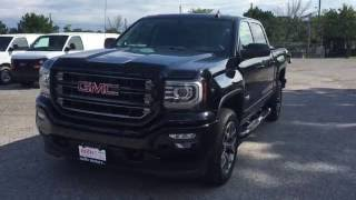 getlinkyoutube.com-2017 GMC Sierra SLT 1500 4WD Crew Cab All Terrain 8 Spd Transmission Black Oshawa ON Stock# 170051