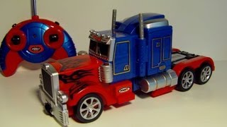 getlinkyoutube.com-TRANSFORMING RC OPTIMUS PRIME REMOTE CONTROL TOY ROBOT TRUCK REVIEW