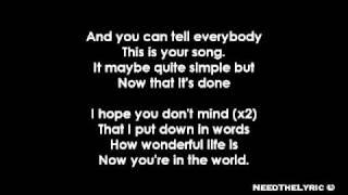 getlinkyoutube.com-Ellie Goulding - Your Song + Lyrics