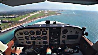 getlinkyoutube.com-Cessna C172 - Approach and Landing into Paphos, Cyprus - ATC Audio - GoPro Cockpit Views