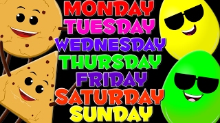getlinkyoutube.com-Days Of The Week | Nursery Rhymes | Kids Learning Videos | Children's Rhymes