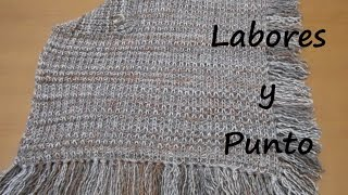 getlinkyoutube.com-Aprende a tejer un poncho en dos agujas