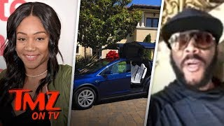 Tyler Perry Gifts Tiffany Haddish A Tesla! | TMZ TV width=