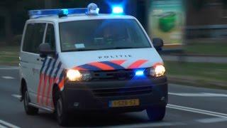 getlinkyoutube.com-(auto gaat niet aan de kant) politie & brandweer naar brand Rotterdam