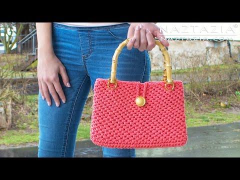 Crochet Jersey Purse - DIY Tutorial for Handbag - Easy T-Shirt Yarn Bolsa Bag