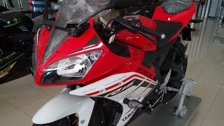 getlinkyoutube.com-Tampilan Yamaha R15 150 FI - Warna Merah Putih