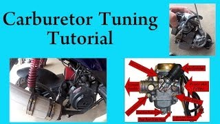 getlinkyoutube.com-How to tune a carburetor in a GY6 chinese scooter 150 or 50 cc