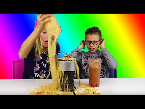 GUMMY vs REAL Smoothie Challenge