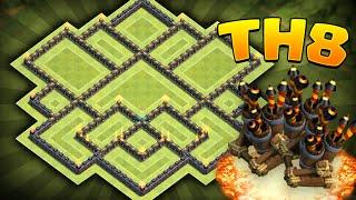 getlinkyoutube.com-Clash of Clans - Townhall 8 (TH8) Trophy/Clan War Base! Anti-Three Star! Anti-Drag/Anti-Air!