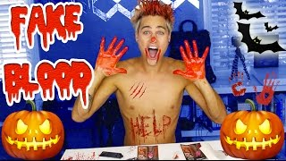 getlinkyoutube.com-DYING MY HAIR w/ FAKE HALLOWEEN BLOOD!! *HOLIDAY EDITION*