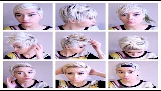 Seven No Heat Pixie Hairstyles  | Hair Tutorial Pt. 3