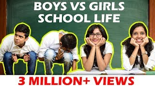 BOYS vs GIRLS in SCHOOL LIFE | The Half-Ticket Shows