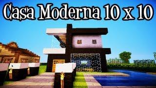 getlinkyoutube.com-Tutoriais Minecraft: Como Construir uma Casa Moderna 10x10