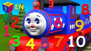 getlinkyoutube.com-Learn to count to 10 with Choo-Choo Train. Cartoons for children kids toddlers
