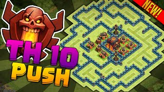 getlinkyoutube.com-Clash of Clans Town Hall 10 Defense (CoC TH10) BEST Trophy / War Base 2015