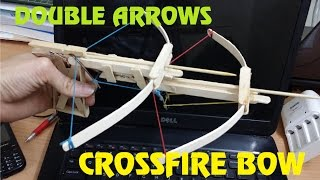 getlinkyoutube.com-Generation 5 - How to make a double arrows Crossfire Bow out of Popsicle Sticks