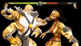 getlinkyoutube.com-Mortal Kombat 9 - Kintaro Reverse Rip Fatality on all Characters 4K 60FPS Gameplay Fatalities Mods