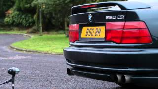 getlinkyoutube.com-BMW 850CSi exhaust sound check using an AKG D12 mic.