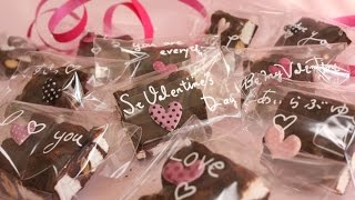 getlinkyoutube.com-Easy Valentine's Recipe(marshmallow & nuts  chocolate) バレンタインチョコ (ロッキーロード風)
