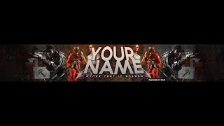 ZoVa: Youtube Banner Template (Gaming)