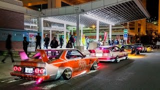 getlinkyoutube.com-Bosozoku & Anime Cars: Just Another Night at Daikoku