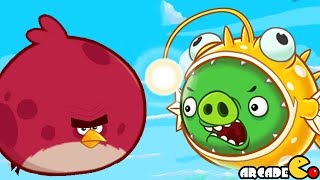 getlinkyoutube.com-Angry Birds Fight! - NEW Super Angler Pig Angry Birds Under Pigstruction Daily Event! iOS/iPad