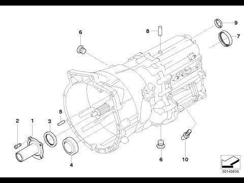 Замена подвесного, муфты и сальников МКПП BMW 530D ...