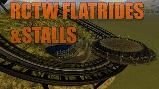 Rollercoaster Tycoon World Flatrides and stalls revealed!