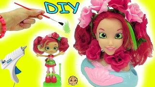 getlinkyoutube.com-DIY Do It Yourself Craft Big Inspired Shopkins Shoppies Doll From Disney Little Mermaid Style Head