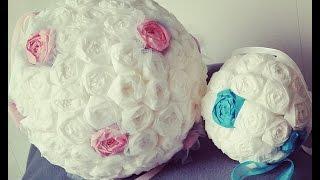 getlinkyoutube.com-Création boule de fleur en papier