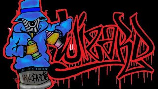 getlinkyoutube.com-How to draw graffiti name ''WIZARD'' with a spray can  -Tellefunk - Mashina Zaples