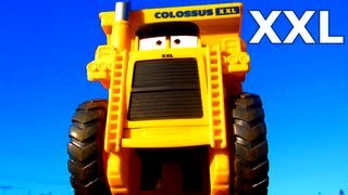 getlinkyoutube.com-Cars 2 Colossus XXL Tipping Dump Truck Micro-Drifters similar to Disney Pixar Screaming Banshee Toy