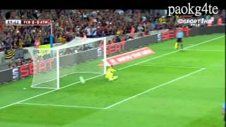 Messi misses penalty width=