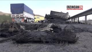 Tır'da Yüklü 25 Ton Madeni Yağ Alev Alev Yandı