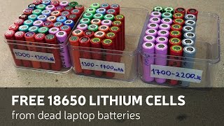 getlinkyoutube.com-How To Get: Free 18650 Lithium Cells From Dead Laptop Batteries