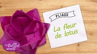 getlinkyoutube.com-Pliage de la serviette en forme de Fleur de Lotus